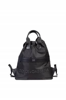 Текстильный рюкзак с кожаной отделкой Dolce&Gabbana 599118403