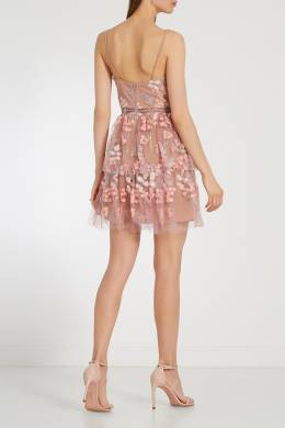 Короткое платье с вышивкой Self-portrait 532118329