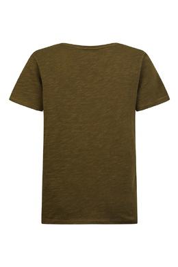 Зеленая футболка с надписью Burberry Kids 1253120090