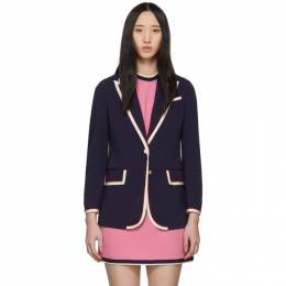 Gucci Navy Stretch Cady Jacket 191451F05700503GB