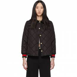 Gucci Black Ruffled Pearl Jacket 191451F06100202GB