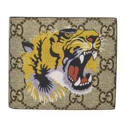 Gucci Beige GG Supreme Tiger Wallet 451268 K5Z1N