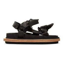 Sacai Black Bow Tie Sandals 19-04511