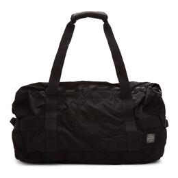 Stone Island Black Travel Duffle Bag 192828M16900101GB