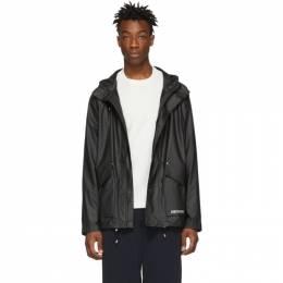 Stutterheim Black Stenhamra Lightweight Raincoat 191924M18000106GB