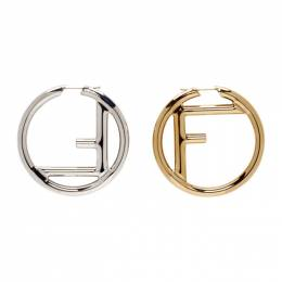 Fendi Gold and Silver F is Fendi Earrings 8AG797 B08