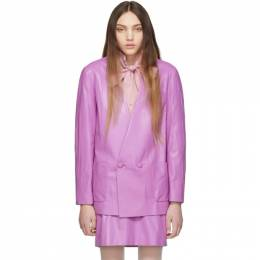Gucci Purple Leather Oversize Jacket 191451F05700902GB