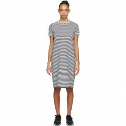 Opening Ceremony White and Black Stripe Tee Dress SS19THN15159