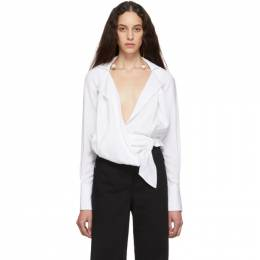 Jacquemus White La Chemise Figari Shirt 191553F10700303GB