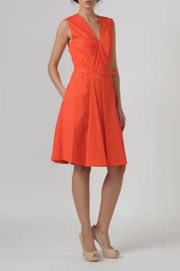 Оранжевое платье с поясом Blumarine 533120826