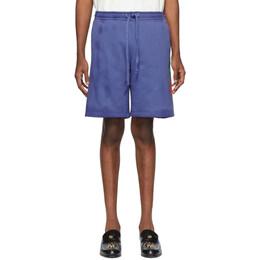 Gucci Blue Terry Logo Shorts 536557 XJA46