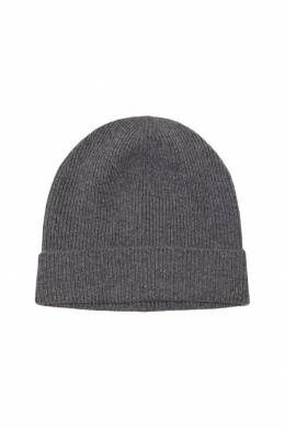 Серая кашемировая шапка Prada 40122041