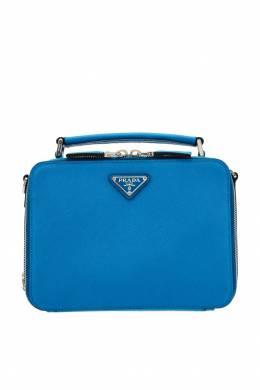 Компактная голубая сумка Brique Prada 40122029