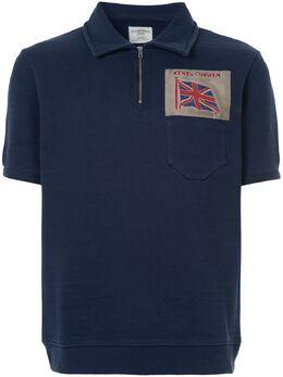 Kent & Curwen рубашка-поло с заплаткой с флагом K3768ER080