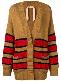 Nº21 - oversized striped cardigan A6653566936986300000