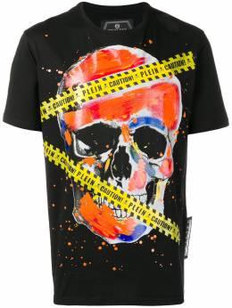 Philipp Plein - футболка 'Platinum Cut' с принтом черепа CMTK3630PJY660N93593