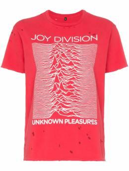 R13 футболка 'Joy Division' с эффектом потертости R13W385405RED