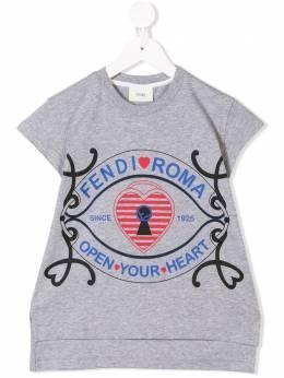 Fendi Kids - футболка с логотипом 9353AJ93369989000000