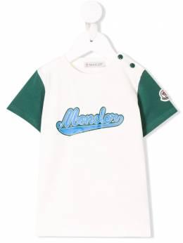 Moncler Kids футболка с логотипом 80238508790A