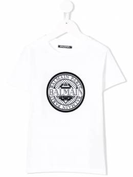 Balmain Kids футболка с логотипом 6K8521KX080