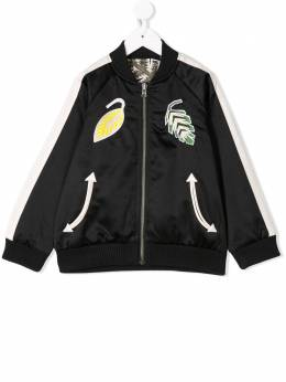 Stella McCartney Kids - куртка-бомбер с принтом 399SMK95935666830000