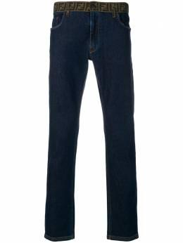 Fendi - джинсы с принтом 'FF' на поясе 069A6WK9358586500000