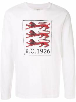 Kent & Curwen футболка с принтом львов K39D1TR030