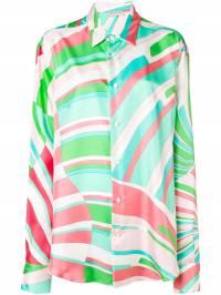 Emilio Pucci - рубашка с геометричным принтом J909H359933909330000