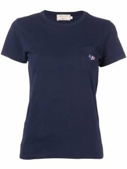 Maison Kitsune футболка с нашивкой AW00102KJ0007