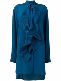 Givenchy - платье-рубашка с плиссировкой 6C696JX9385303500000