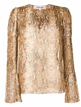 Diane Von Furstenberg блузка со змеиным принтом 12890DVF