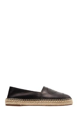 Черные кожаные эспадрильи с логотипом Prada 40123166