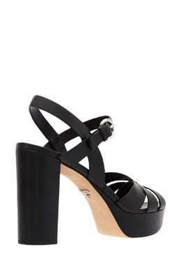 Черные босоножки на платформе и каблуке Prada 40123171