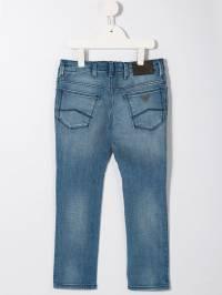 Emporio Armani Kids - джинсы с эффектом потертости J669D5DZ6950T9396353