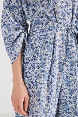 Шелковый комбинезон с цветочным принтом Stella McCartney 193126017