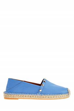 Голубые кожаные эспадрильи Rockstud Valentino 210126544