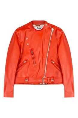 Красная кожаная куртка Acne Studios 876126839