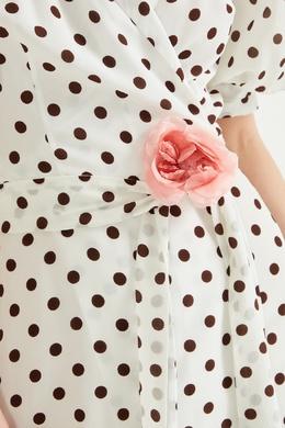 Шелковая брошь-цветок Gucci 470127323