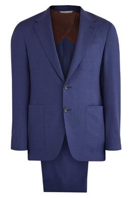 Синий брючный костюм Canali 1793126675
