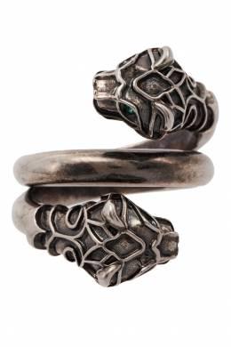 Кольцо с двумя тигриными головами Gucci 470127495