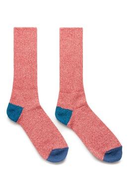 Высокие красные носки с отделкой Anonymousism 2878127608
