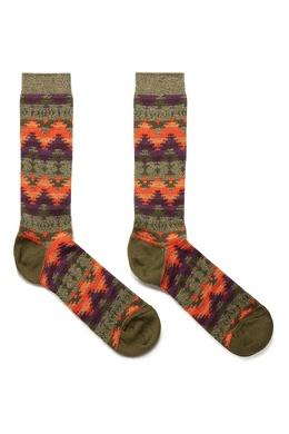 Высокие носки с цветными узорами Anonymousism 2878127622