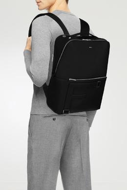 Черный кожаный рюкзак Man Febo Furla 1962128154