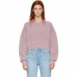 T By Alexander Wang Pink Cropped Utility Sweater 192214F09600204GB