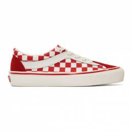 Vans Red and White Checkerboard Bold NI Sneakers 192739M23702802GB