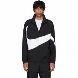 Nike Black and White Swoosh Jacket 192011M18000503GB