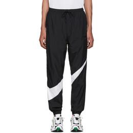 Nike Black and White Swoosh Track Pants 192011M19001001GB
