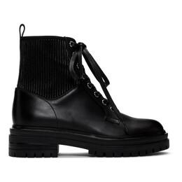 Gianvito Rossi Black Martis Combat Boots 192090F11300211GB
