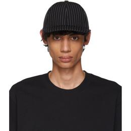 Ami Alexandre Mattiussi Black and White Stripe Cap 192482M13900301GB