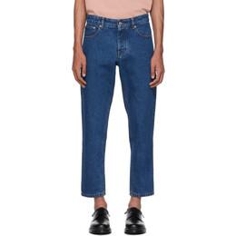 Ami Alexandre Mattiussi Blue Carrot-Fit Jeans 192482M18600108GB